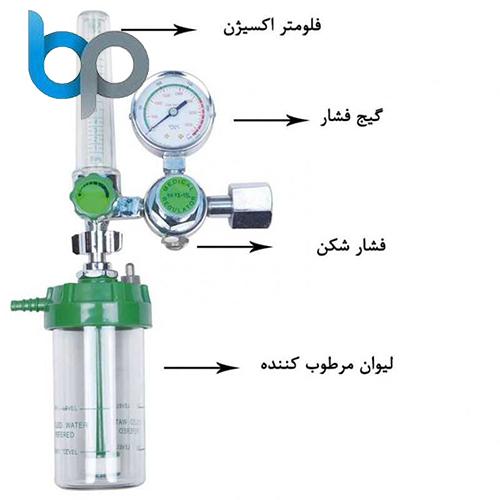 مانومتر-کپسول-اکسیژن